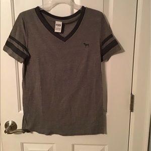 Gray vs pink v neck tshirt